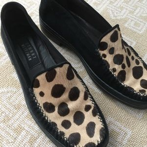 Stuart Weitzman vintage cheetah print loafer